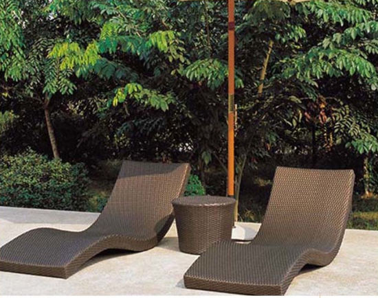 Chine L\'Osier couché salon en rotin forme ondulée Chaise ...