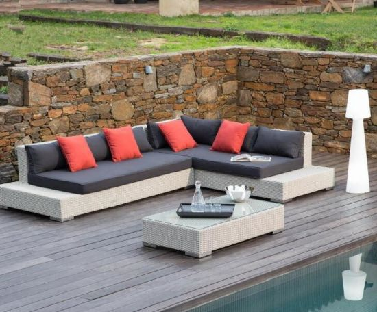 Meubles en rotin PE & l\'aluminium, jardin extérieur canapé d\'angle