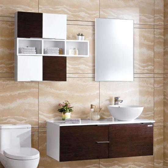 China Oppein roble negro lacado alto brillo armarios baño ...