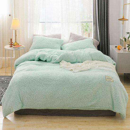 China Super Soft cálida Sherpa Fleece camas de edredón con
