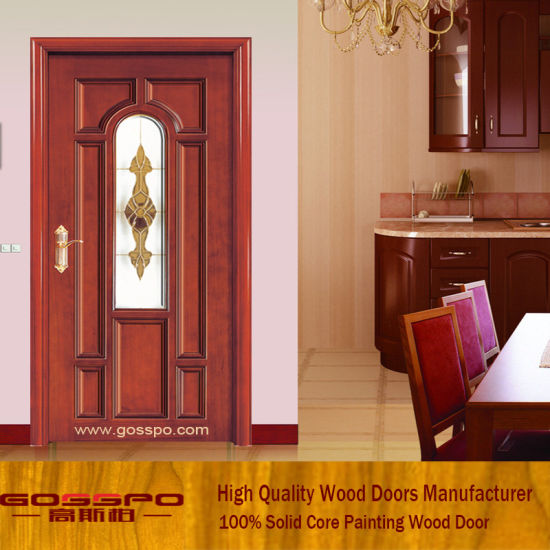 Chine Porte de salle de bain en bois de porte en verre Gsp3 ...