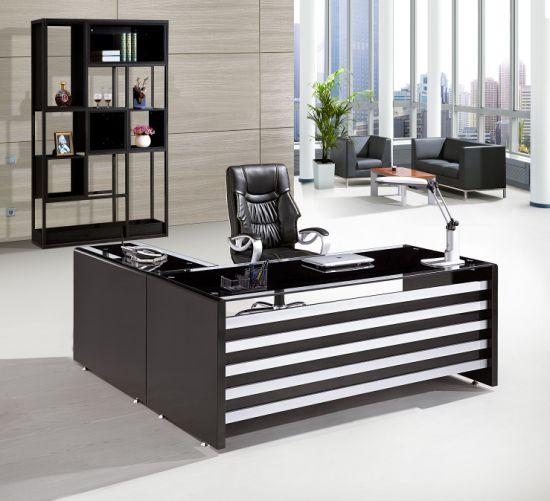 Vidrio templado vidrio de alta calidad 2019 Tabla de la Oficina de melamina  Mesa Ejecutiva Oficina cuadro moderno mobiliario de oficina