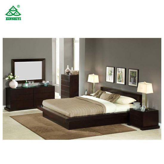Base di lusso della camera da letto di stile della base moderna di legno