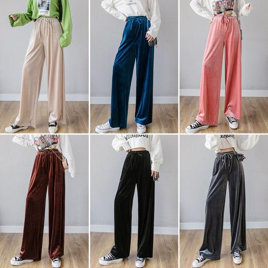 China Gimnasio Emparejador Velet Casual Coloridos Pantalones Para Mujer Comprar Pantalon De Gimnasia En Es Made In China Com