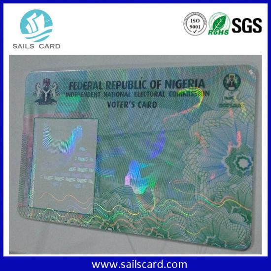 China Werbegeschenk Kunststoff Laser Foil Business Card