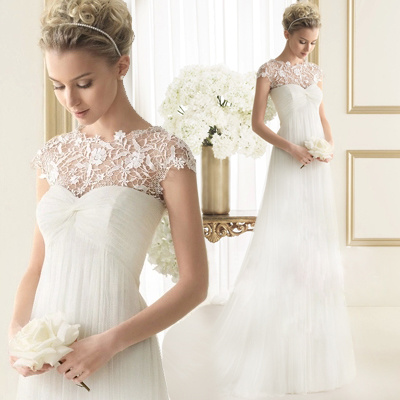 Chine Robe sans manches dentelle Tulle taille