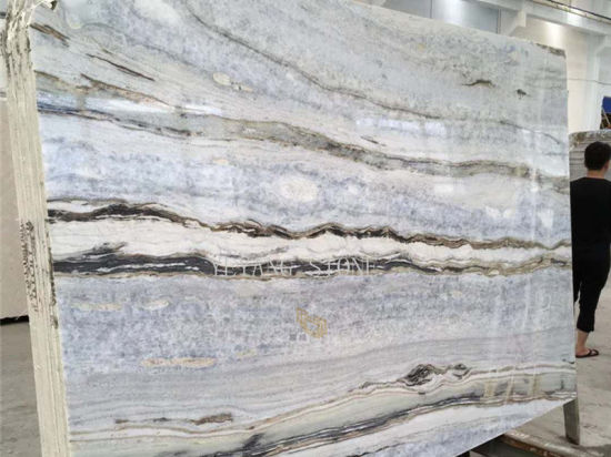 China Blauer Donau Marmor Fur Kuche Badezimmer Fussboden Wand Fliese Dekoration Technik Kaufen Baumaterial Auf De Made In China Com