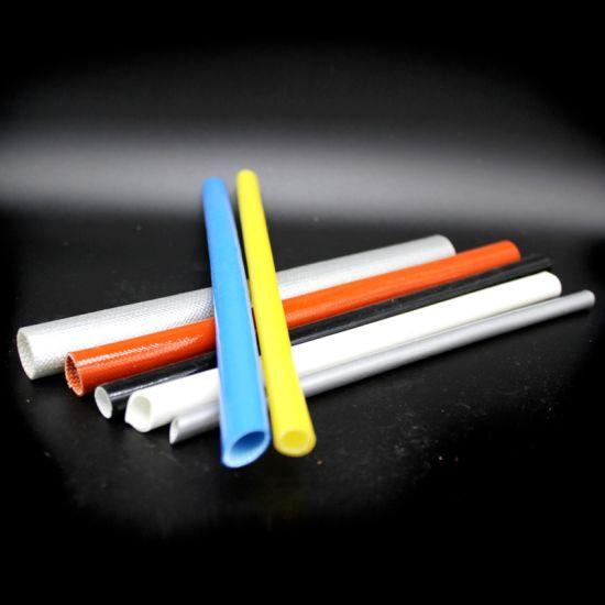 Silicona de vidrio revestido de fibra Sleeving Alta Temperatura 8 Mm Diámetro X 5 Metros Negro