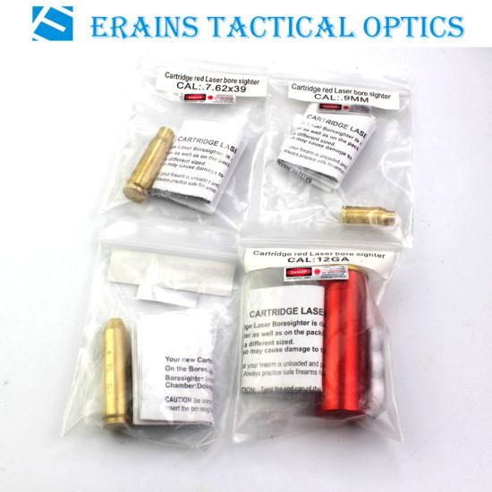 12ga laiton couleur boresighter cartouche avec 4 batteries pour calibre 12 fusils