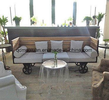 Chine American, canapé en bois massif en fer forgé
