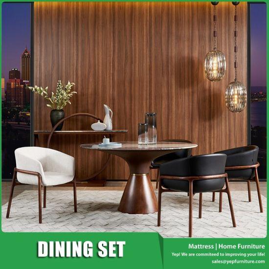 China Piedra redonda mesa de comedor con 4 sillones juego de ...