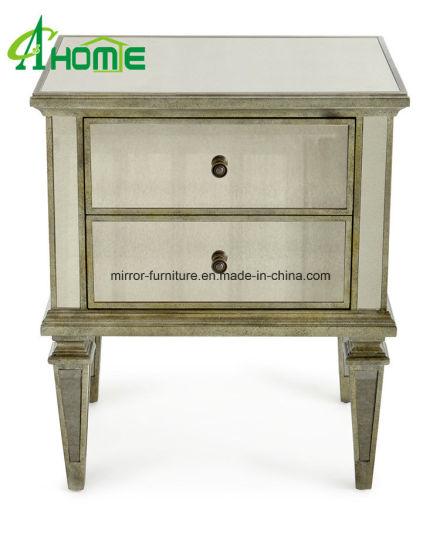 avec miroir table tiroirs Silver Edge Chevet 3 Chine ukXZiP