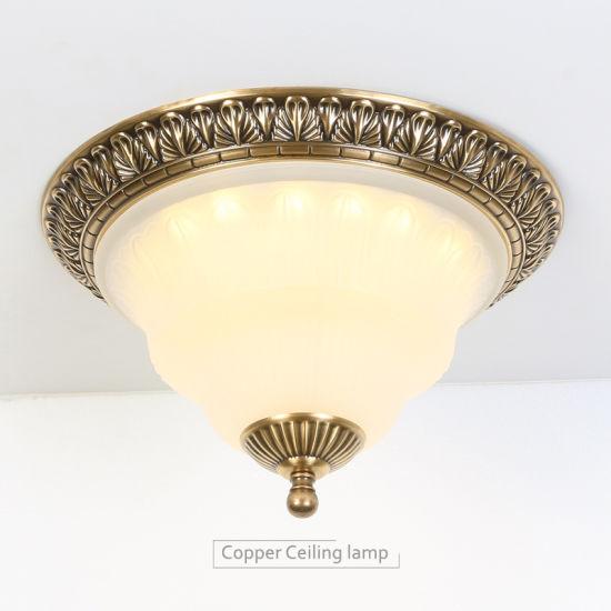 techo luz de de de China LED cobre de Lámpara de techo latón qVpjMSGLUz