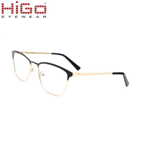 forma elegante estilo limitado busca lo último Marco dorado Material de alta calidad óptica gafas de acero inoxidable