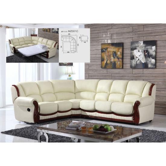 Salon moderne canapé en Coupe d\'inclinaison Mz001c