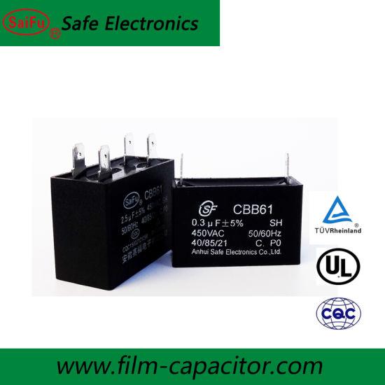 Condensador permanente Motor de terminales 15//µF