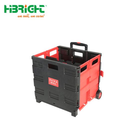 Chariot pliant crate replier boîte de stockage roues cage pliable chariot de démarrage