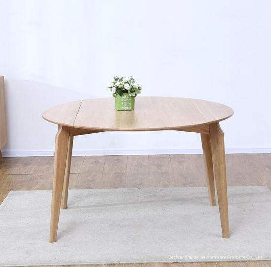 China Mesa de comedor plegable de madera maciza – Comprar ...