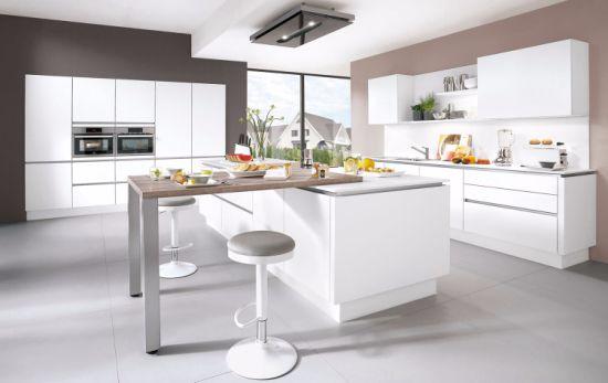 Armadio da cucina bianco di legno di alta qualità della lacca del Matt  stile europeo/americano