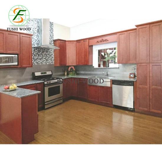 мода модульные деревянные кухонные шкафы с искусственным мрамором изготовителей оборудования по современному кухонные шкафы