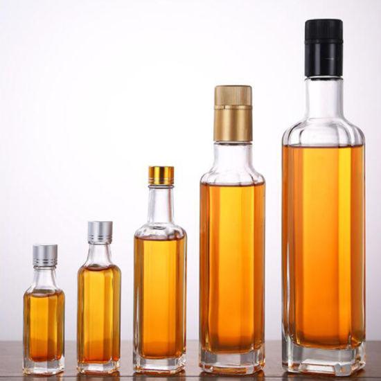Olio di oliva su ordinazione della cucina del commercio all'ingrosso 30ml 50ml 100ml Vineger che impacca le bottiglie di vetro vuote del vetro da