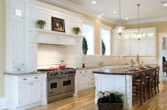 Governo di legno di attaccatura di parete della cucina di disegno  dell\'armadio da cucina della ciliegia