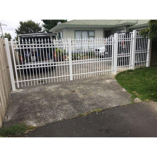 Haut de lance en fer forgé Clôtures de jardin en métal pour la Maison /  Villa