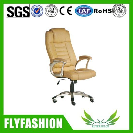 Chine Fauteuil en cuir synthétique marron visiteur chaise de
