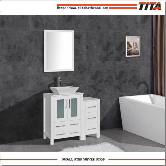Montage sur ci-dessus de la Céramique moderne évier Bath Furniture T9159