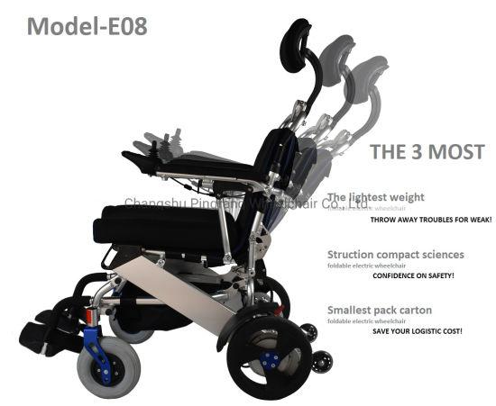 China La inclinación del respaldo plegable silla de ruedas