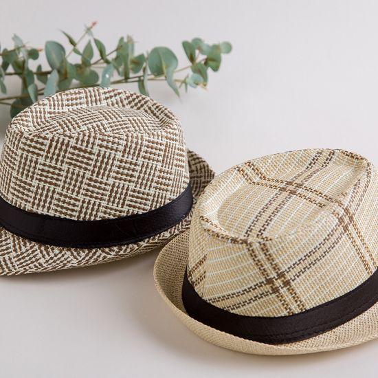 Nouveau Hommes//Femmes Summer Panama Trilby Casual Chapeau avec bande noire-Dorset