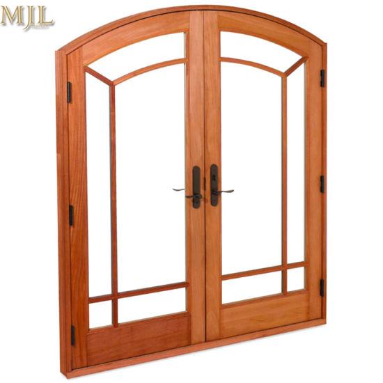грациозные алюминиевых стекла материал арочных наружные защитные элементы французского двойные распашные двери