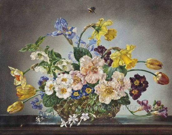 Fleur De La Peinture Moderne De L Huile Sur Toile