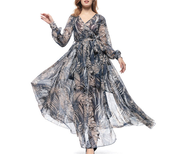prix d'usine Coût mode femme été mousseline soie floral robe