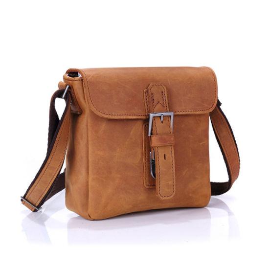 Sacchetto di cuoio del messaggero di prezzi della fabbrica della Cina del cuoio di spalla delle borse poco costose del sacchetto per gli uomini