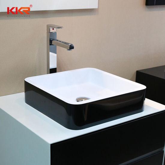China Kleines Waschbecken Corian Solid Surface Basin Countertop Waschbecken Waschtisch Aus Kunstharz Im Bad Kaufen Waschbecken Auf De Made In China Com
