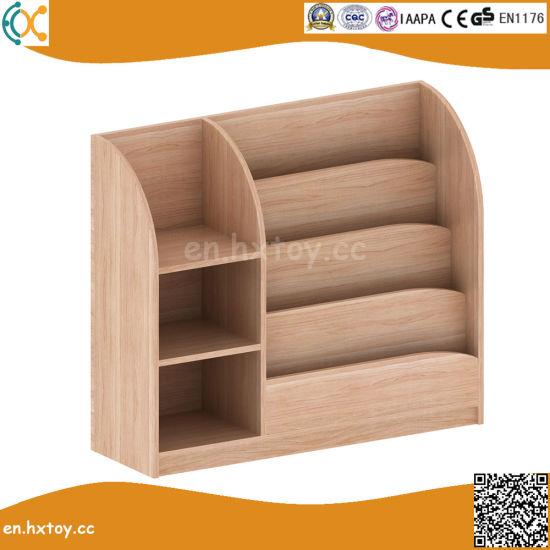 La escuela de madera de haya de estante de libros para niños muebles para  jardín de infantes
