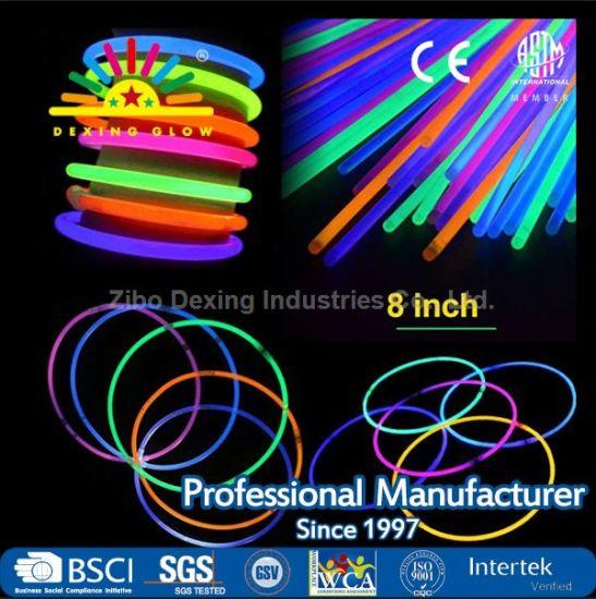 """100 Connectors 8"""" 100P Glow Sticks Bracelets Necklaces Party Favors Neon Color"""