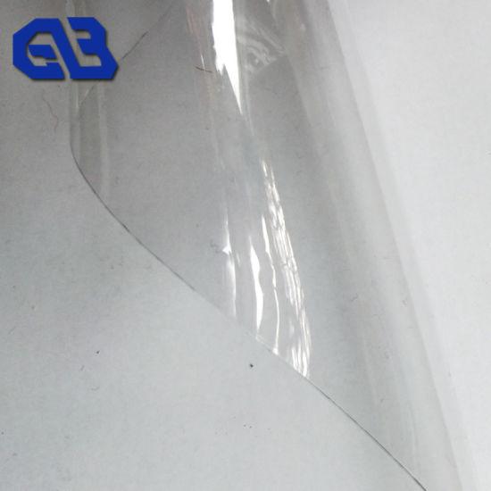 China 0 35 Mm Cristalinas Lona Transparente De Pvc Tejido