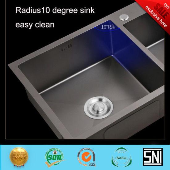 Chine La Couleur Noire Nano Technologie Lavabo En Acier Bs 347 201