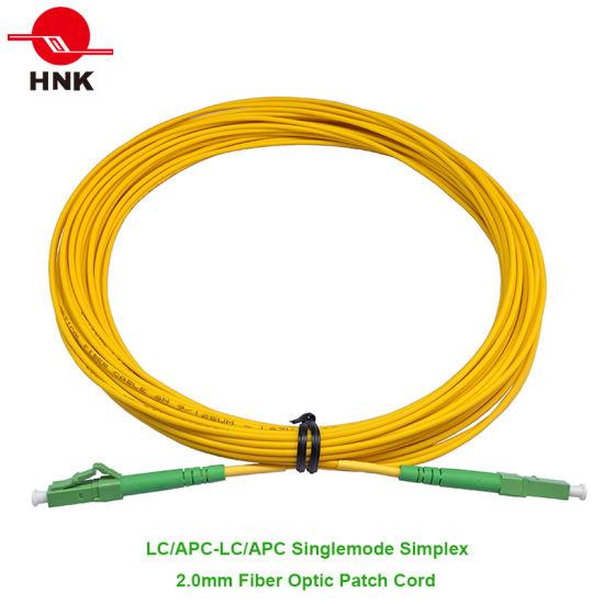 C/âble Fibre Optique LC//APC pour SC//APC Duplex monomode 2,0/mm//3.0/mm Diam/ètre ext/érieur 9//125/Fibre Optique Patch Cord 1 m 3.0mm
