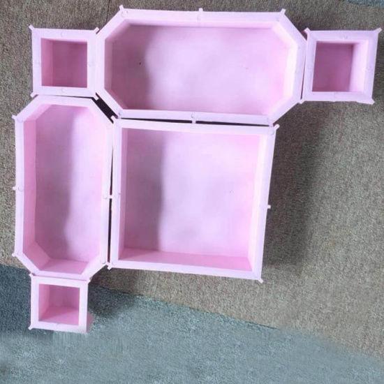 Forme d\'onde DIY Jardin Finisseur de verrouillage du moule en plastique PVC