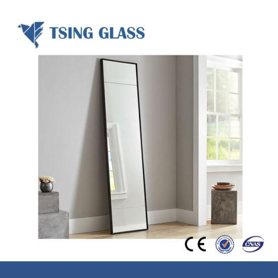 Vestidor decorativo espejo de plata, cuarto de baño espejos de luz