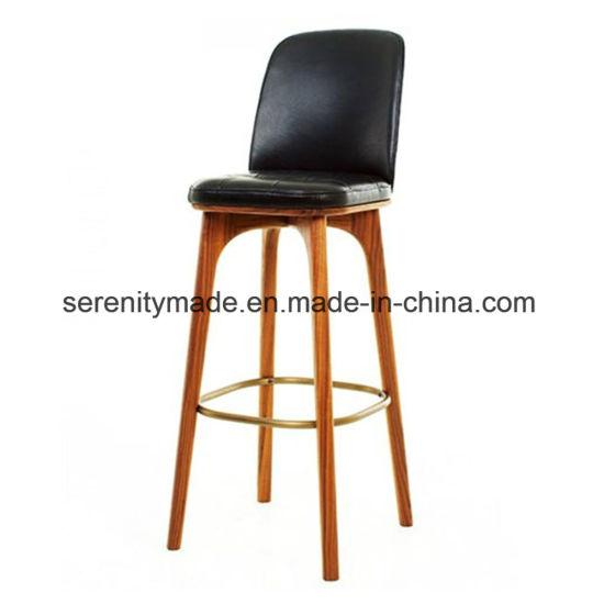 Chine Hôtel bar Le Mobilier PU siège chaise haute en bois
