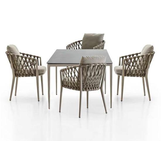 Chine Corde extérieur jardin moderne mobilier Chaise Table 4j3ARqcL5