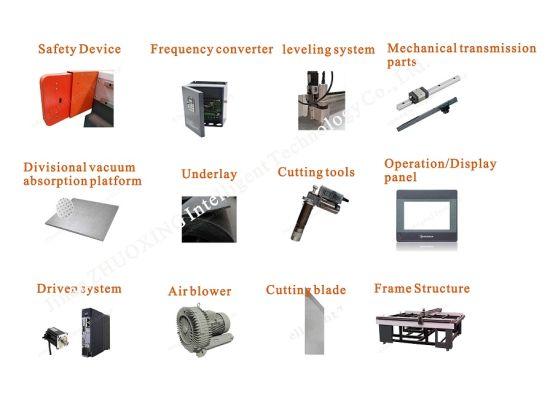 Máquina de corte da junta de PU populares com marcação Zx-2516 Dieless  Equipamento CNC Automático