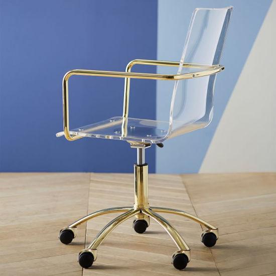China Silla giratoria de acrílico acrílico con ruedas sillas ...