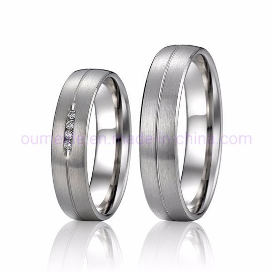 1pc Hommes Femmes Acier Inoxydable Titane Wedding Engagement Ring Bijoux Cadeau