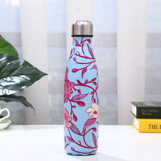 500ml Botella de agua personalizado Premium Acero inoxidable de vacío frasco de Frío Regalo