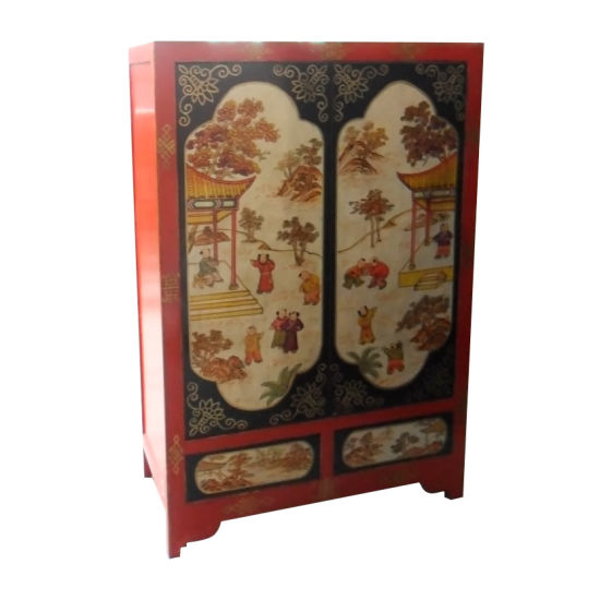 Chine Mobilier Antique Armoire En Bois Chinois Peinture